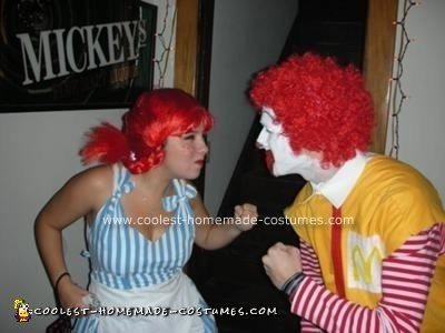Homemade Wendy and Ronald McDonald Costumes