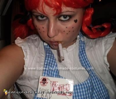 Homemade Wendy's Girl Gone Bad Unique Halloween Costume Idea