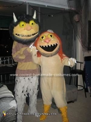 Homemade Where the Wild Things Are Halloween Couple Costume