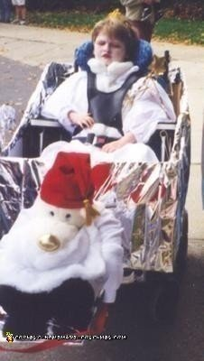 Homemade White Witch (Queen of Narnia) Wheelchair Costume