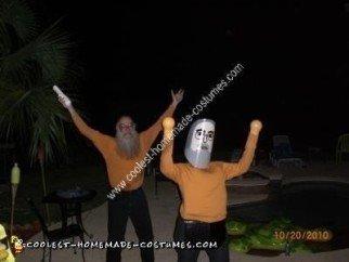 Homemade Wii and Mii Couple Costume