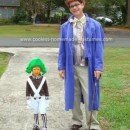 Homemade Willy Wonka and Oompa Loompa Costume