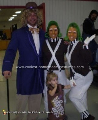 Homemade Willy Wonka and Oompa Loompa Costumes
