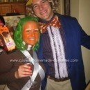 Homemade Willy Wonka and Oompa Loompa Couple Costume