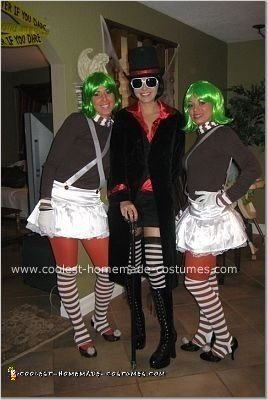 Homemade Willy Wonka and Oompa Loompas Group Costume