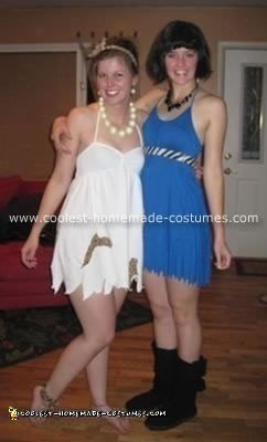 Homemade Wilma Flintstone and Betty Rubble Costume