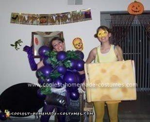 Homemade Wine and Cheese Couple Costume