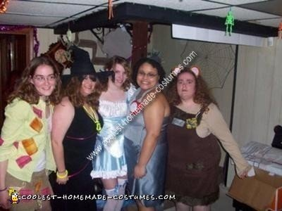 Homemade Wizard of Oz Group Costumes