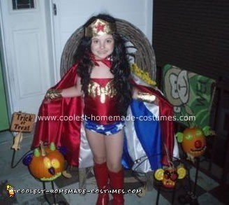 Homemade Wonder Woman Halloween Costume