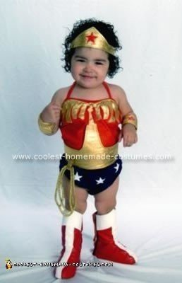 Homemade Wonder Woman Toddler Costume