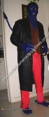 Homemade X-Men Nightcrawler Halloween Costume