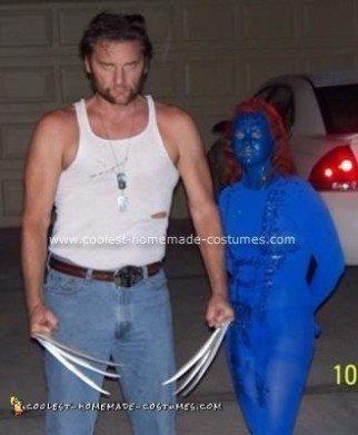 Homemade X Men Wolverine and Mystique Costume