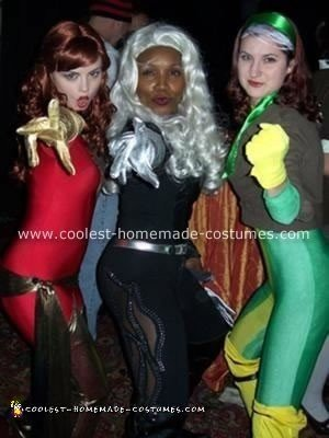 I was Rogue and my friends Brooke and DJ were the Dark Phoenix and Storm from the X-men cartoon series.