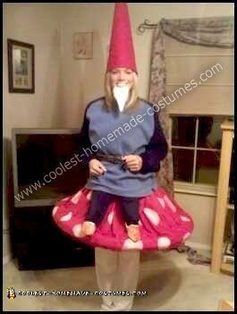 Homemade Yard Gnome on a Toadstool Costume