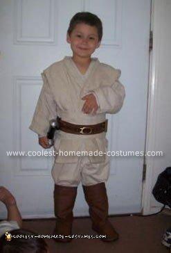 Homemade Young Anakin Skywalker Costume