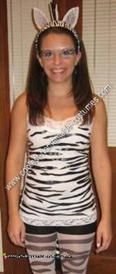 Homemade Zebra Adult Costume Idea