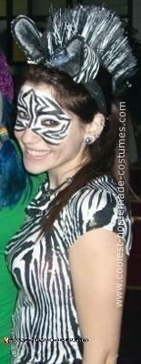 Homemade Zebra Costume