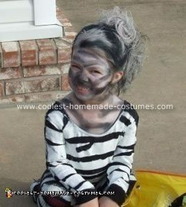 Homemade Zebra Costume