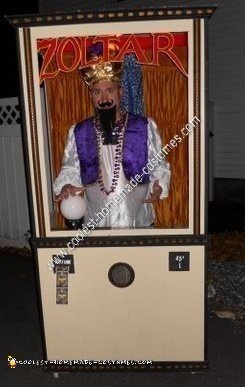 Homemade Zoltar Halloween Costume Idea