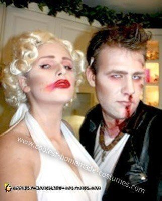 Homemade Zombie Marilyn Monroe and James Dean Costumes