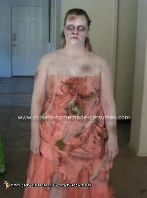 Homemade Zombie Prom Costume