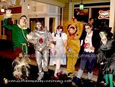 Homemade Zombie Wizard of Oz Group Costume