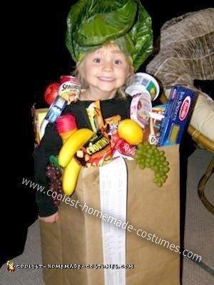 Homemade Bag of Groceries Costume