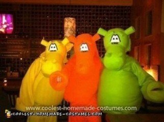 Homemade Hungry Hungry Hippos Group Costume