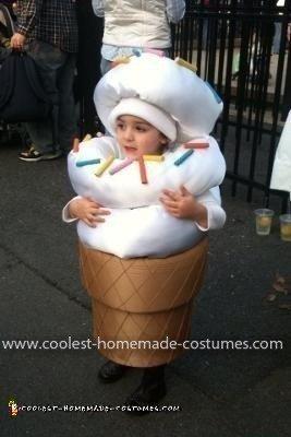 Homemade Ice Cream Cone Costume