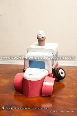 Homemade Ice Cream Truck Transformer Costume