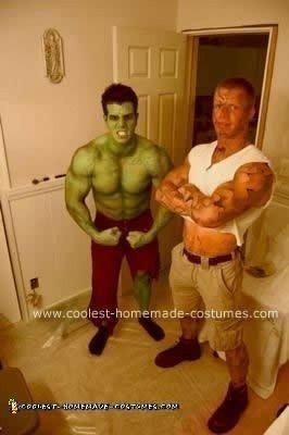 Homemade Incredible Hulk Costume