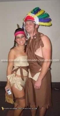 Homemade  Indian Couple Costume