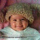 Coolest Infant Cabbage Patch Kid Costume - Calista in her wig before we trimmed and put ribbons on.