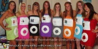 Homemade iPod Group Costume