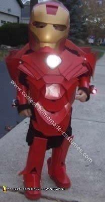 Homemade Iron Man Child's Costume