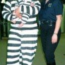 Jailbird Prisoner and Guard Family Costume