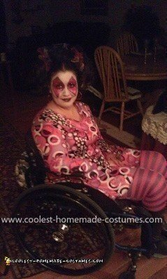 Homemade Jane In the Box Wheelchair Costume
