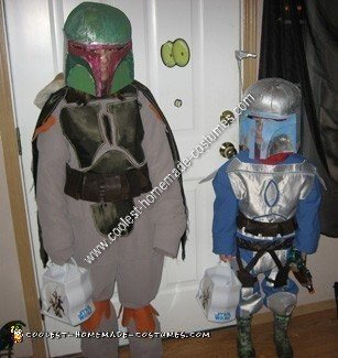 Jango and Boba Fett Homemade Couple Halloween Costume Idea