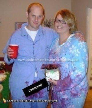 Homemade John and Lorena Bobbitt Costume 4