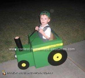 Homemade John Deere Green Tractor Costume