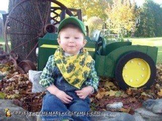 Homemade John Deere Tractor Halloween Costrume