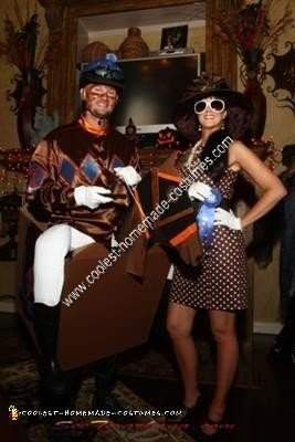 Homemade Kentucky Derby Race Horse Jockey and Owner Couple Costume