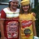 Homemade Ketchup and Mustard Costumes