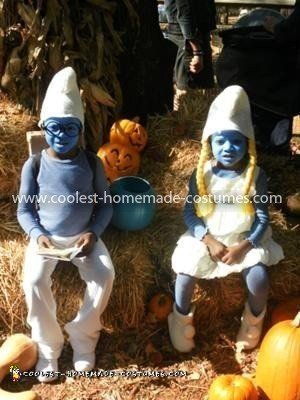 Homemade Kids Smurf Costumes