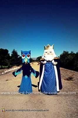 Homemade King Friday and X the Owl (from Mr. Rogers') Couple Costume