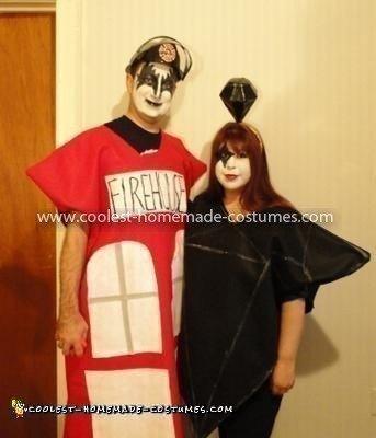 Homemade KISS Songs Couple Costume