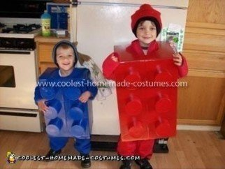Homemade Lego Boys Halloween Costume