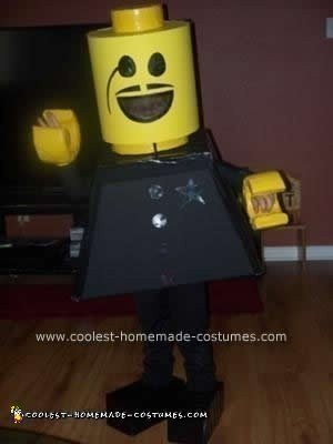 Homemade Lego Cop DIY Halloween Costume