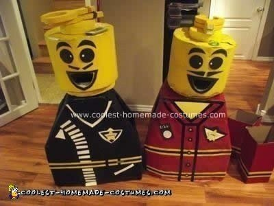 Homemade Lego Couple DIY Costume