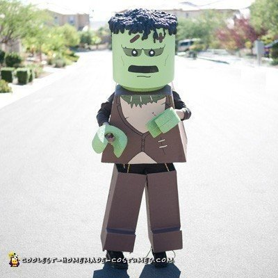 Homemade Lego Frankenstein Costume